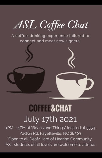 ASL coffee chat flyer